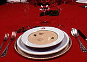 Sopa de ahumados con ostras