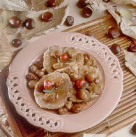 Frutas confitadas - Pavo con castanas ...