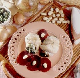 Rollitos de mero con espinacas