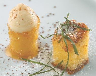 Tarta 'bombón' de manzana y queso de cabra