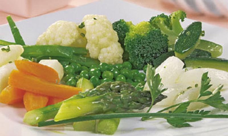 Panaché de verduras al vapor