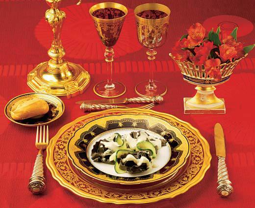 Raviolis de aguaturma (alcachofas de Jerusalén) y trufas con queso Castelmagno