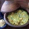 Pollo en crema de cilantro