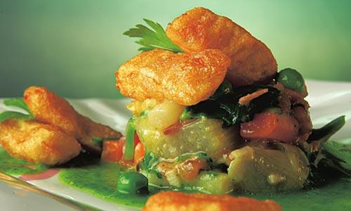 Menestra de verduras de la huerta navarra