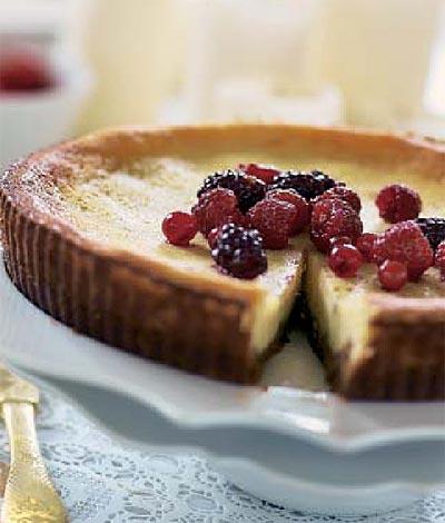 Tarta de queso y frutos rojos