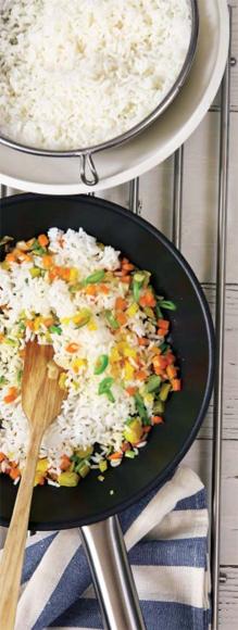 Arroz salteado con verduras