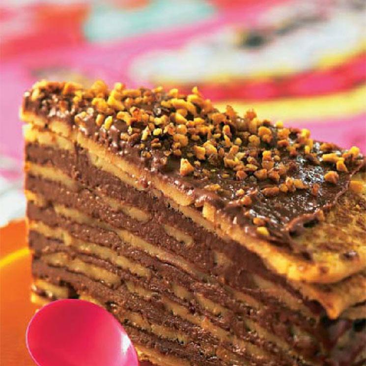 Milhojas De Crepes Y Chocolate