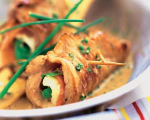'Saltimbocca' de ternera con mozzarella y rúcula