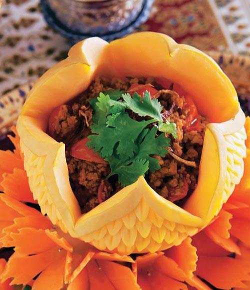 'Nam prik ong' (carne de cerdo con salsa picante)