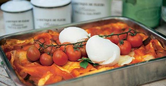 Lasaña de queso y verduras