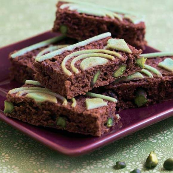 'Brownie' con pistachos