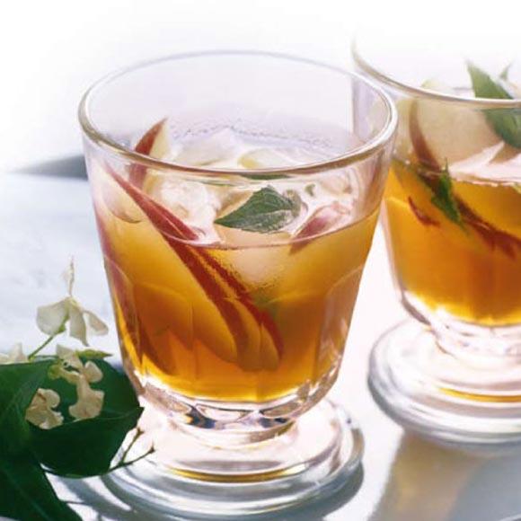 Té de manzana, canela y menta
