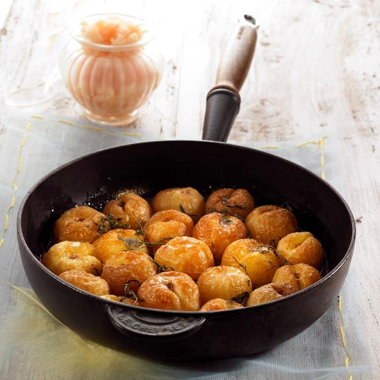 Albaricoques con miel y tomillo