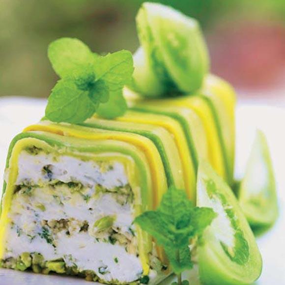 Pastel de queso de cabra
