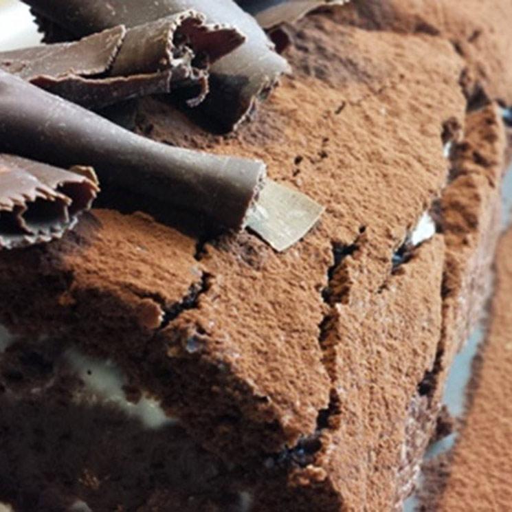 Tronco de mascarpone y chocolate