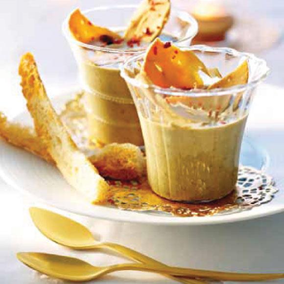 Crema de lentejas con foie gras