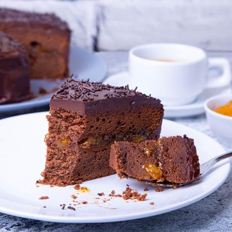 Tarta De Chocolate Y Orejones De Albaricoque