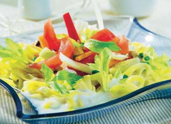 Tallarines en ensalada