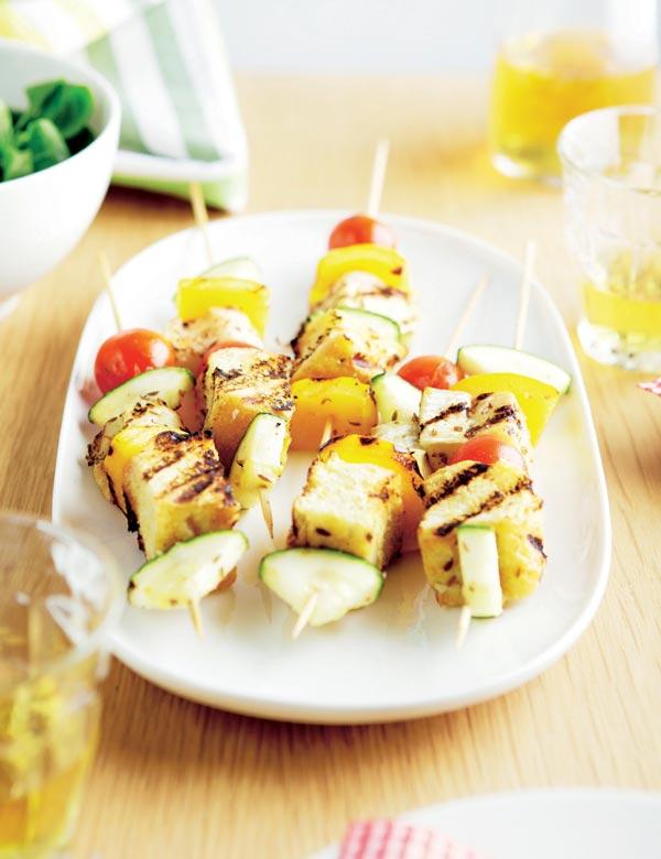 Brochetas vegetarianas - Escuela de cocina vegetariana ...