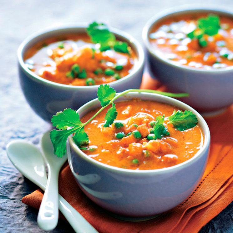 Sopa de verduras al estilo hindú