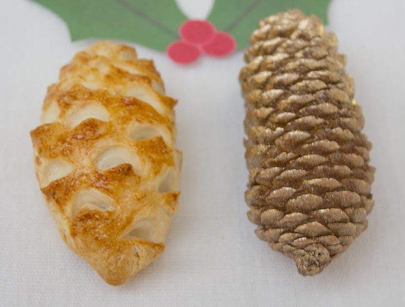 Pine cone pies (empanadillas con forma de piña)