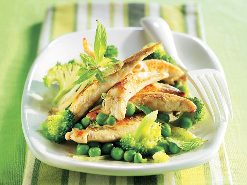 Delicias de pollo con hortalizas