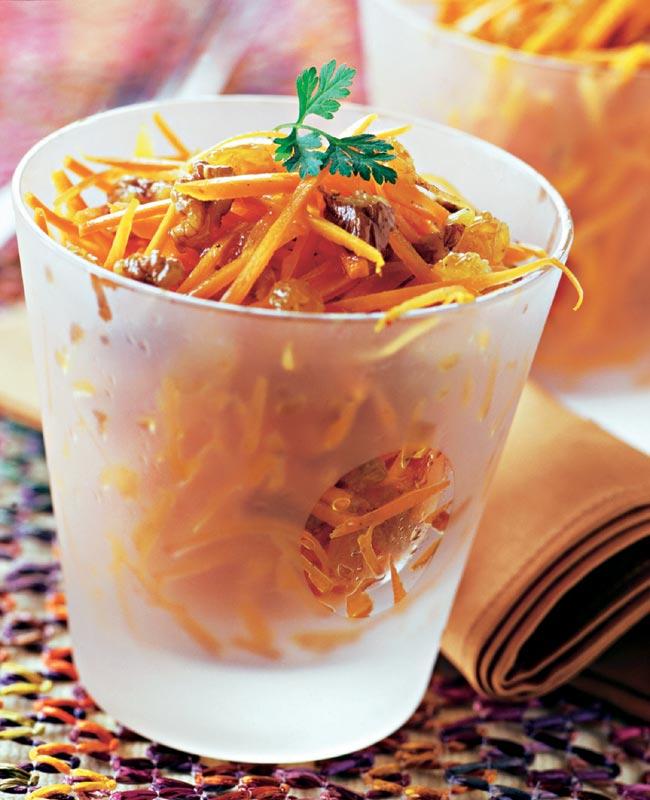 Ensalada cítrica de zanahorias con nueces