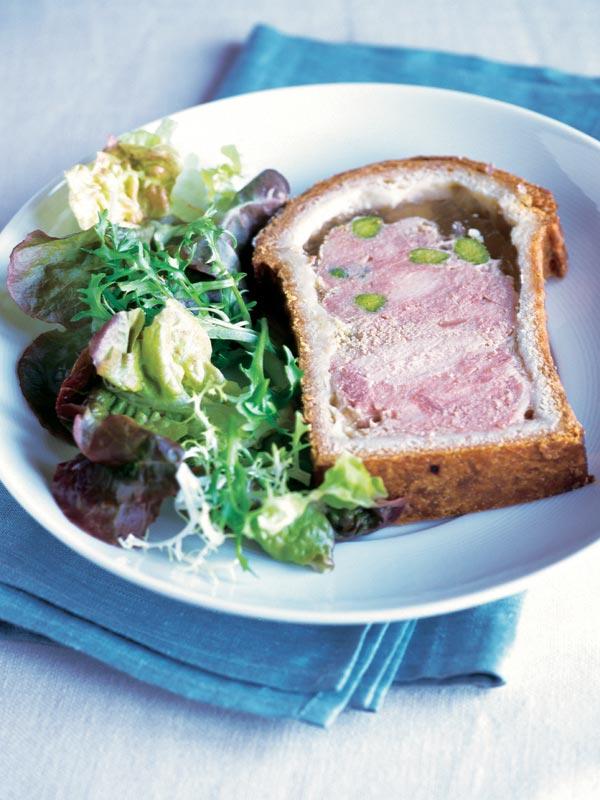Pastel de cerdo y pistachos