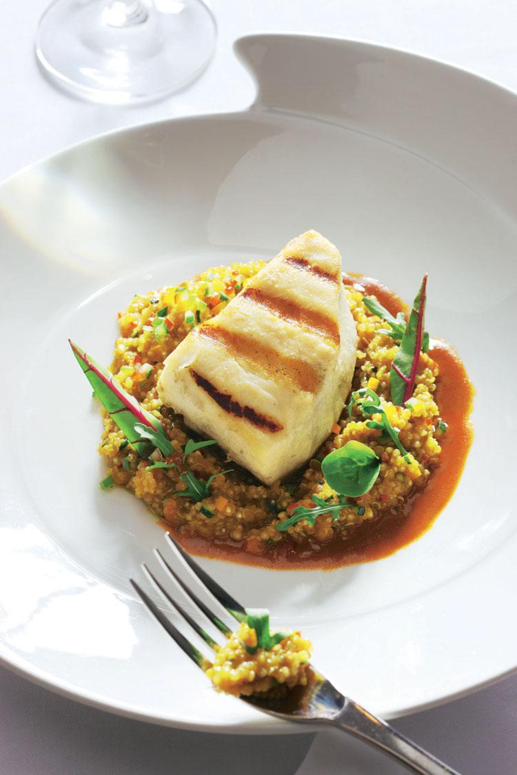 Pez mantequilla con 'risotto' de quinoa