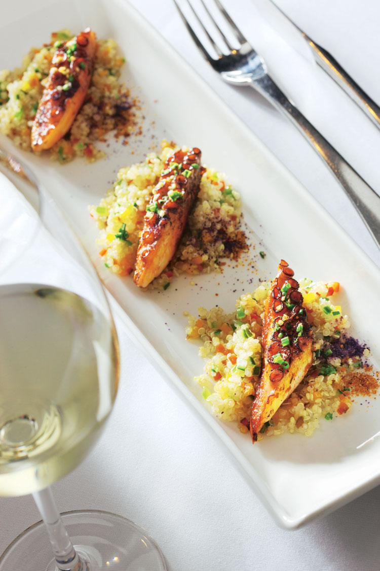 Tabulé de quinoa con pulpo
