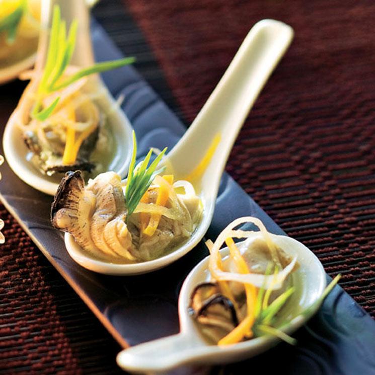 Delicias chinas de ostras con verduritas