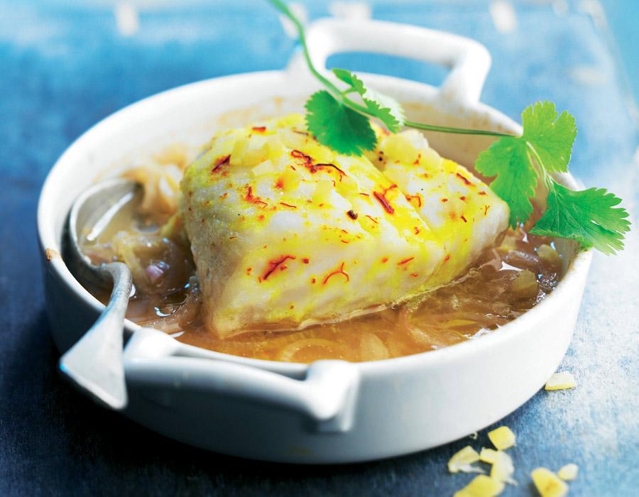 Bacalao con lim n y azafr n - Escuela de cocina azafran ...