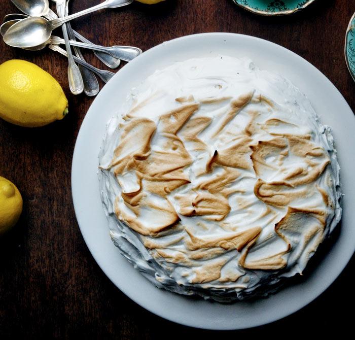 Tarta de merengue de limón