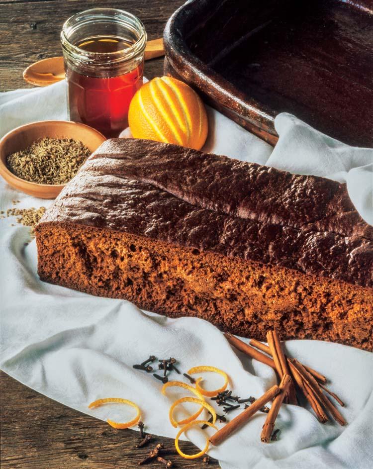 Bizcocho especiado con chocolate con miel mil flores