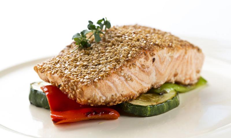 Cocinar Salmon Plancha | Salmon Fresco Con Sesamo Y Verduras A La Plancha