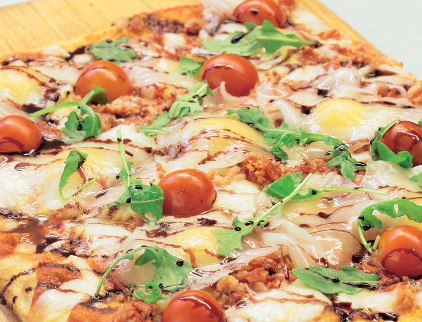 'Pizza Fantasía de la Granja con masa de tallo'
