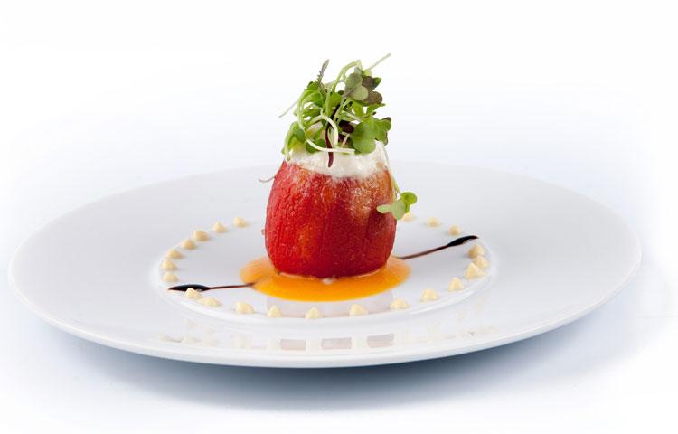 Tomates burrata y azafr n for Estrella michelin cocina