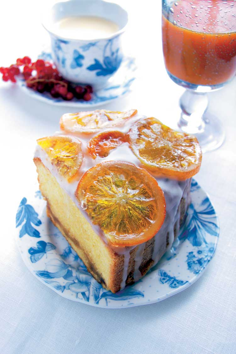 Bizcocho de naranja glaseado