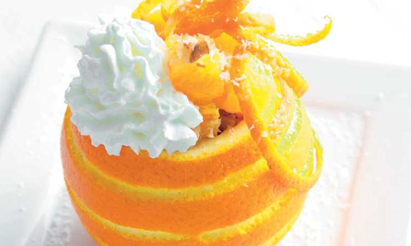 Naranjas con nata