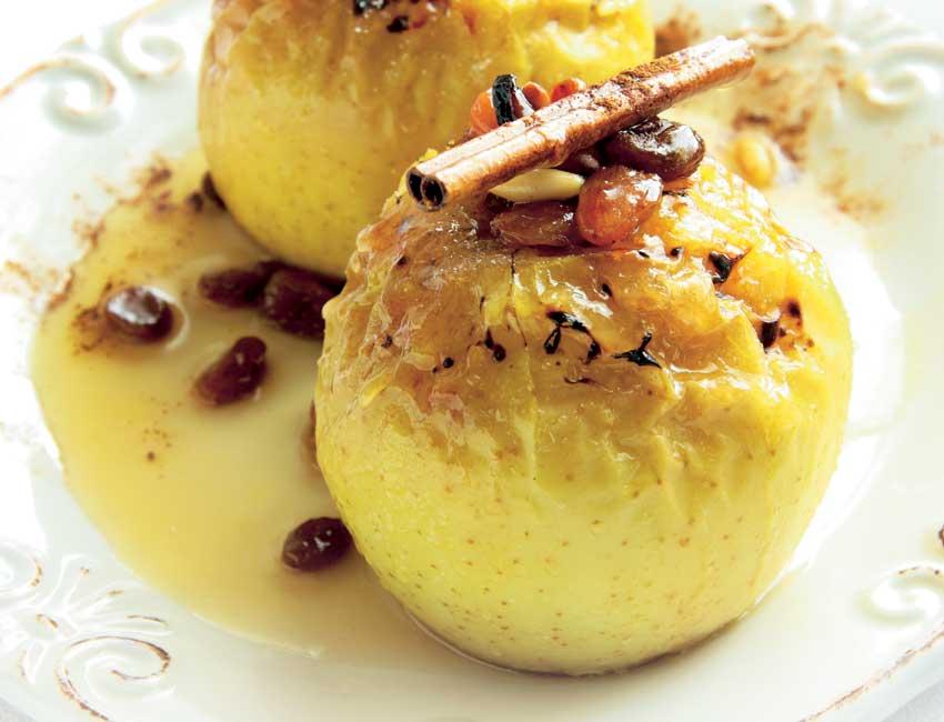 Manzanas asadas con canela y miel