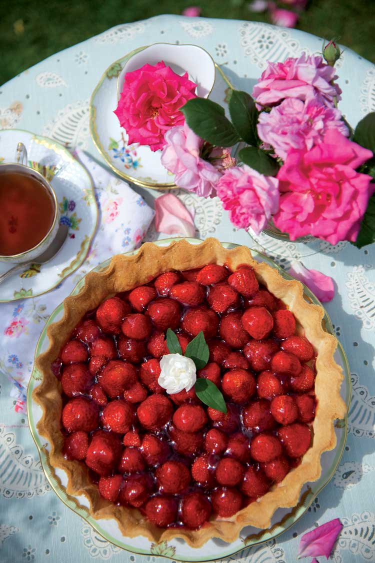 Tarta de fresas salvajes