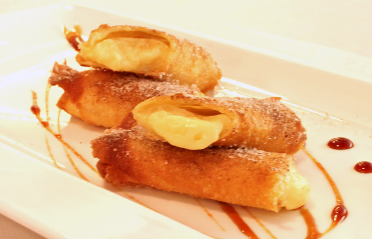 Filloas de crema