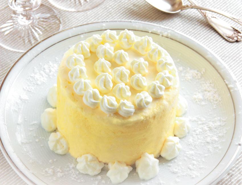 Tarta de helado de chocolate blanco