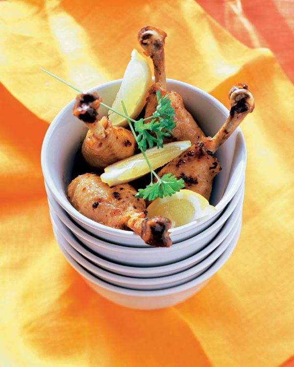 Muslitos de pollo marinados - Muslitos de pollo ...