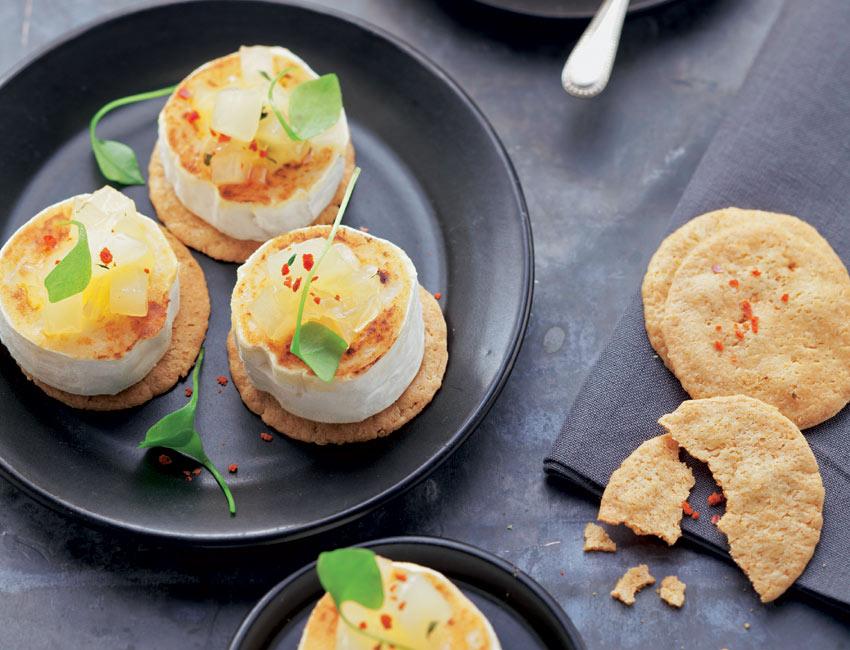 Tapitas de queso de cabra y compota de pera foto 1 for Canape queso de cabra