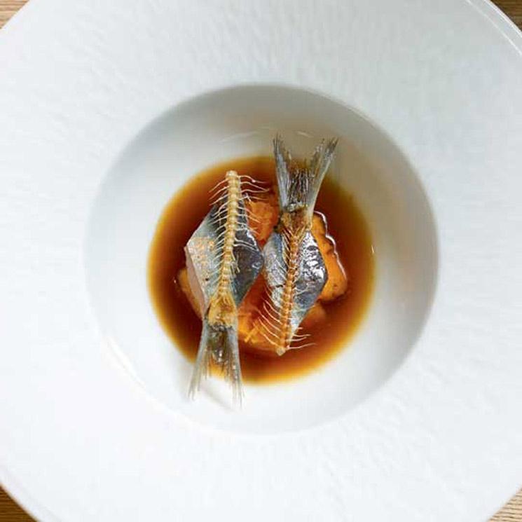 Sopa torrada de sardina