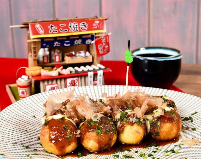 'Takoyaki' o bolitas de pulpo sin gluten