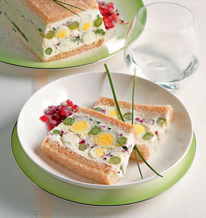 Terrina de queso con espárragos