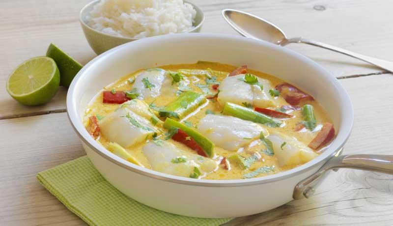 Bacalao fresco al curry
