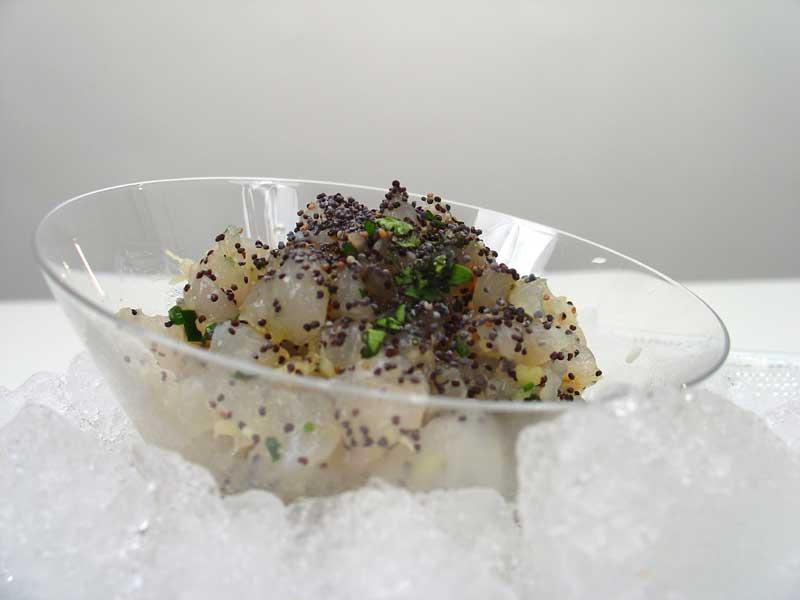 Tartar de bacalao fresco